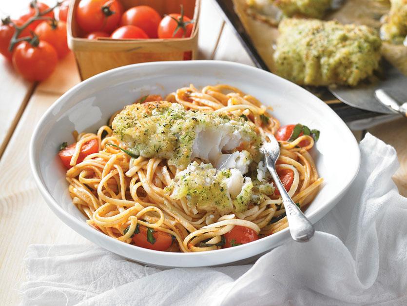 Restaurant italien - Morue en croûte - Italian Crusted Cod