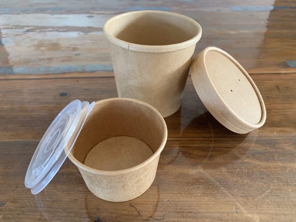 Bols de carton recyclable